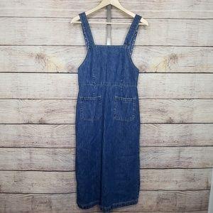 GAP 90s VTG Dark Wash Denim Overall Dress